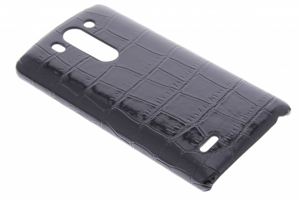 Zwart krokodil design hardcase hoesje voor de LG G3 S