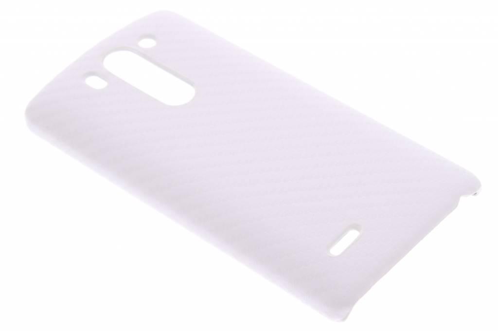 Wit carbon look hardcase hoesje voor de LG G3 S
