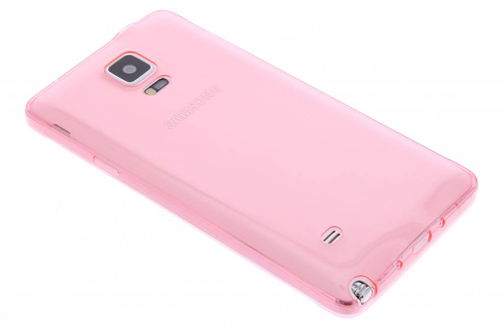 Roze ultra thin transparant TPU hoesje voor de Samsung Galaxy Note 4