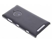 Zwart carbon look hardcase Nokia Lumia 830