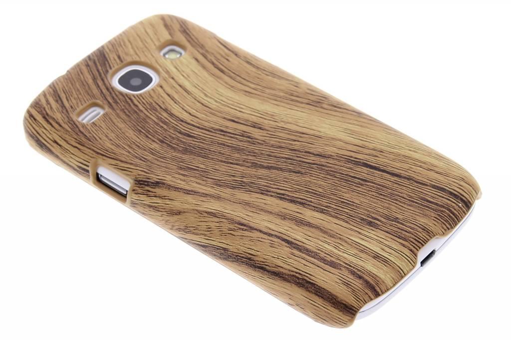 Lichtbruin hout design hardcase hoesje voor de Samsung Galaxy Core