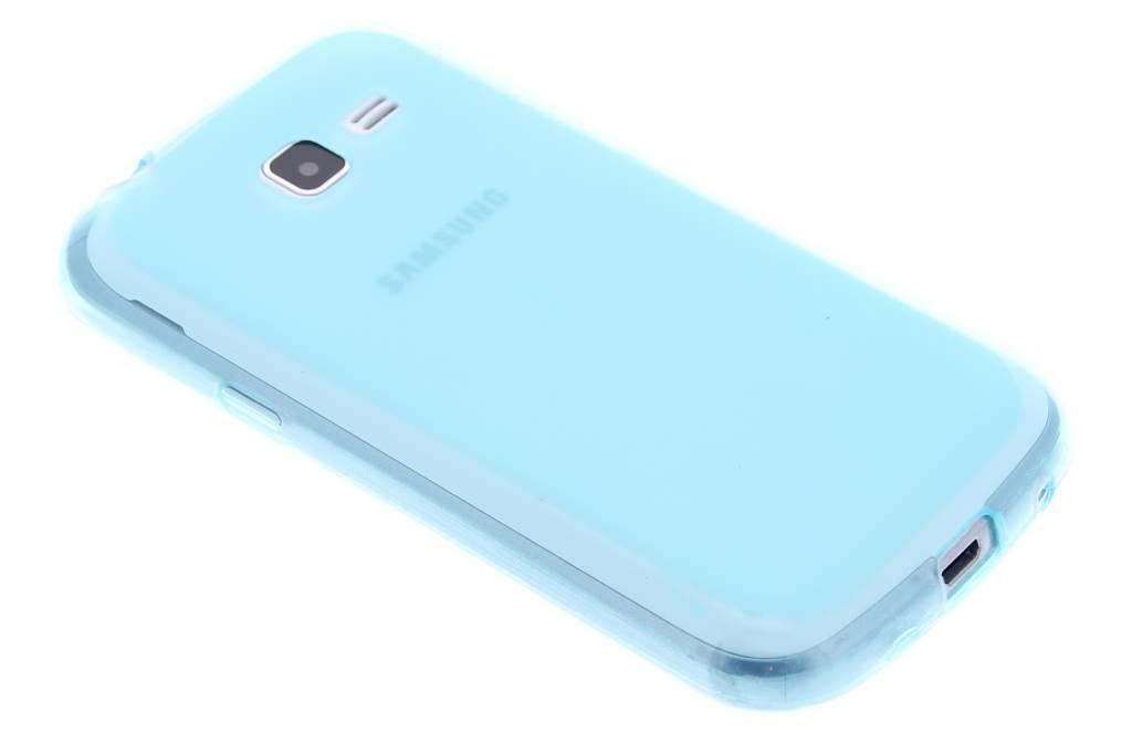 Turquoise hard transparant siliconen hoesje voor de Samsung Galaxy Trend Lite