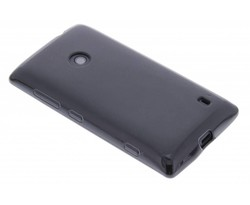 Zwart hard siliconen hoesje Nokia Lumia 520