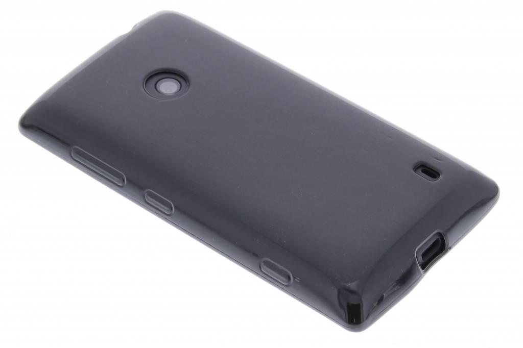Zwart hard siliconen hoesje voor de Nokia Lumia 520-525