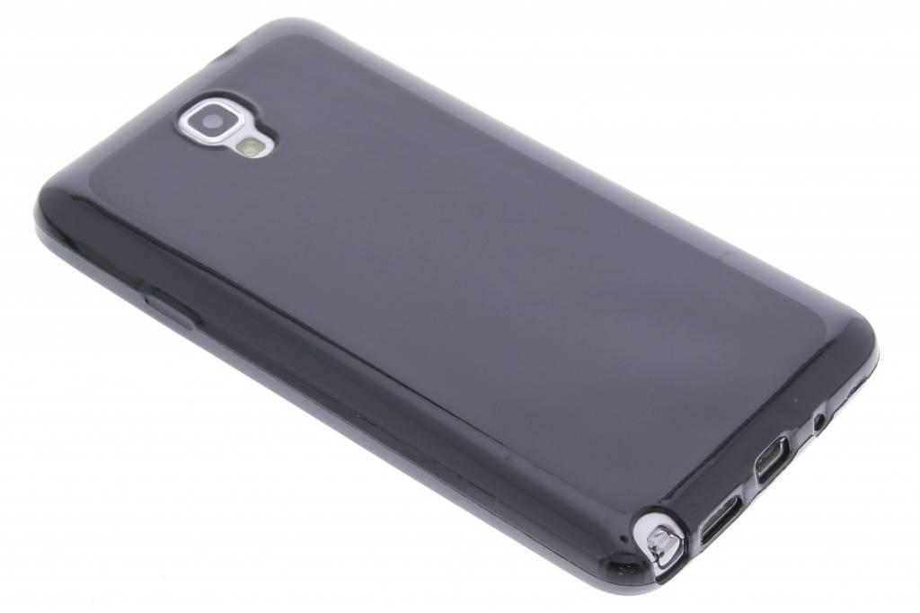 tui Rigide En Silicone Noir Pour Samsung Galaxy Note 3 Neo BVjuX