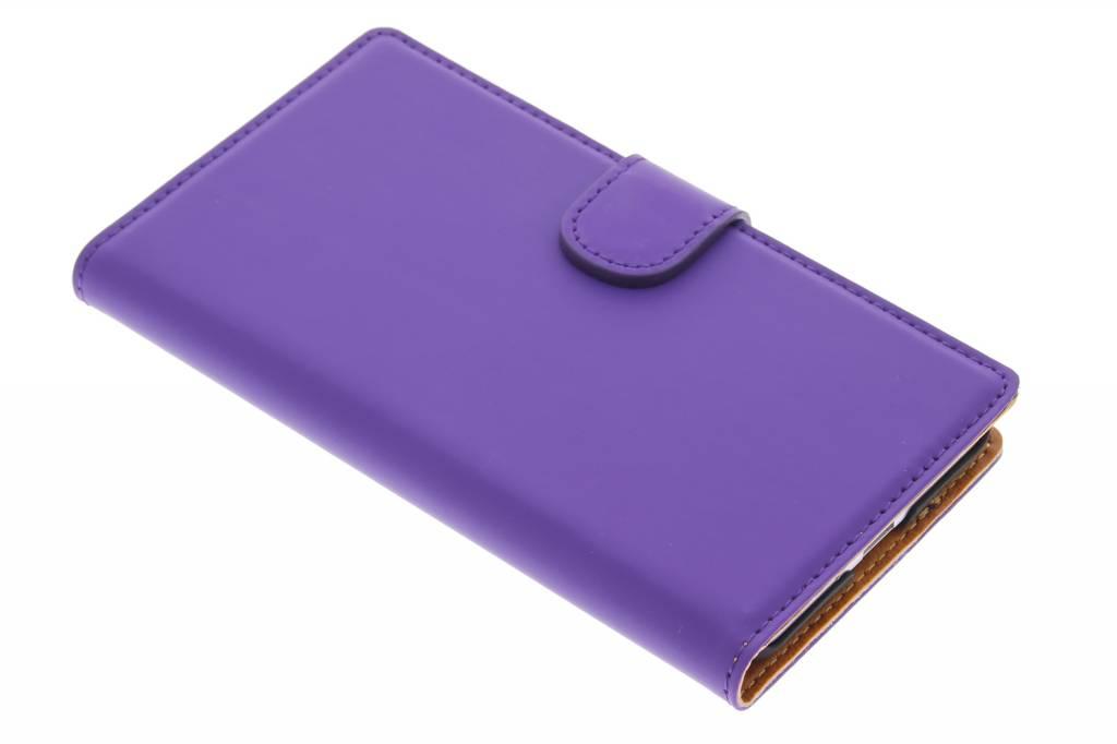Mobiparts Premium Wallet Case voor de Samsung Galaxy Alpha - Purple