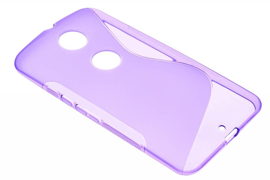 Paars S-line TPU hoesje voor de Motorola Nexus 6