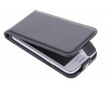 Zwart luxe flipcase Samsung Galaxy Core Plus