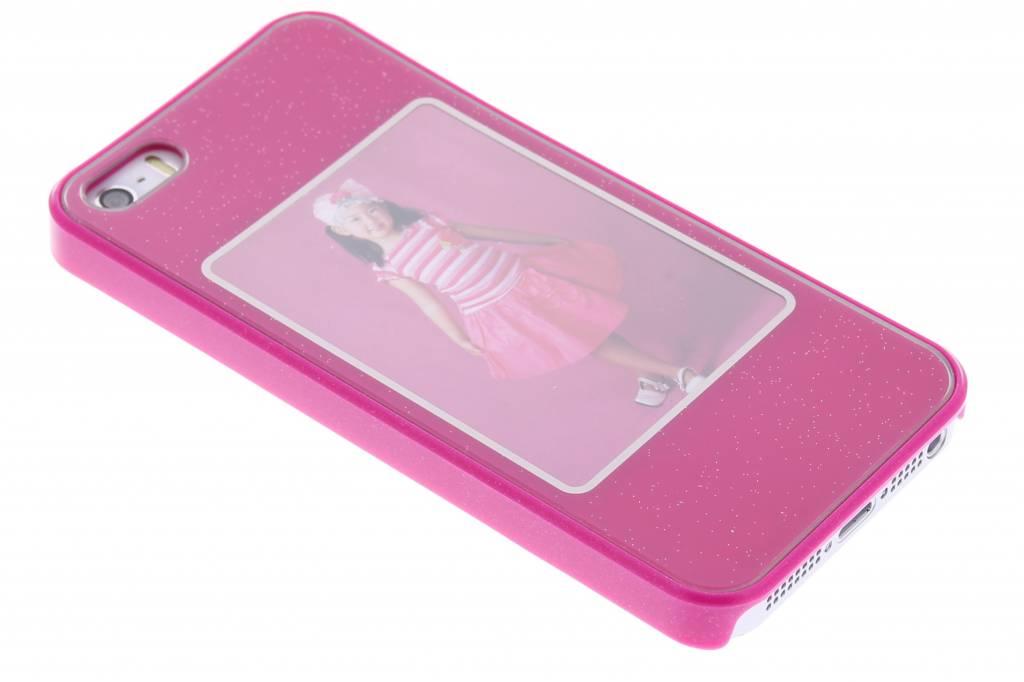 Fuchsia fotolijst hardcase voor de iPhone 5 / 5s / SE