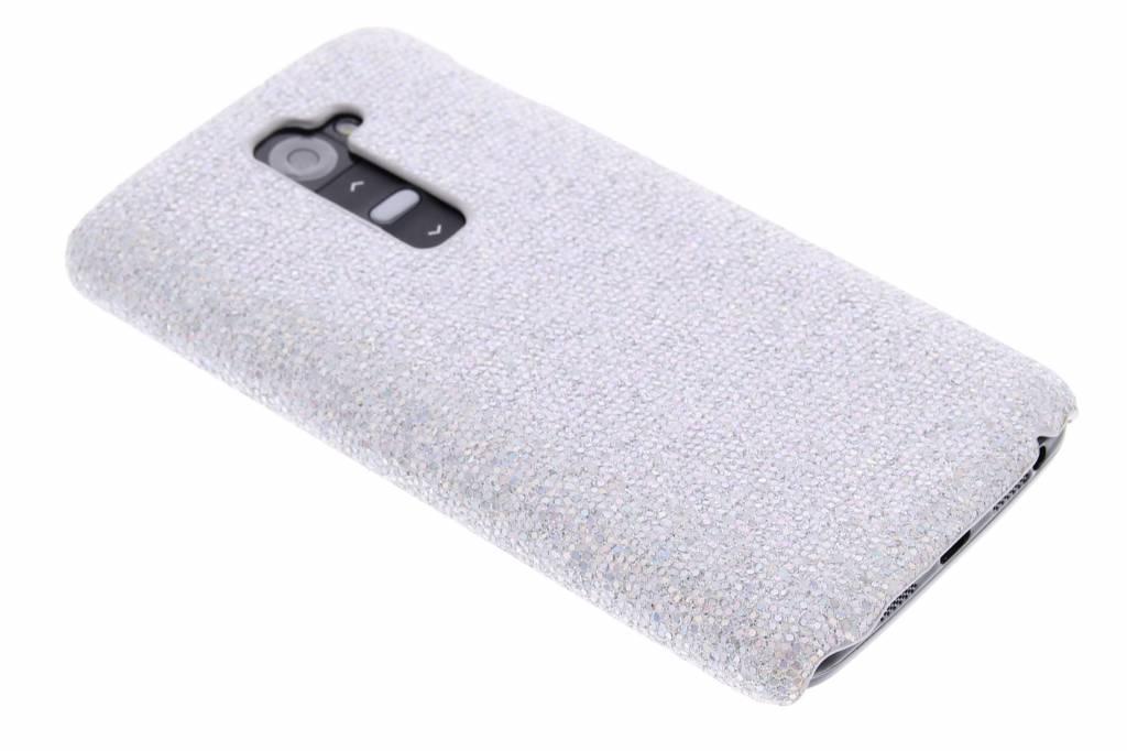 Zilveren glamour design hardcase hoesje voor de LG G2