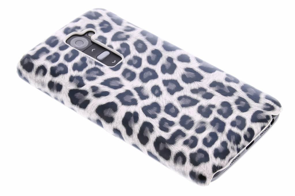 Grijs luipaard design hardcase hoesje voor de LG G2
