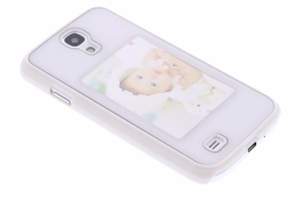 Witte fotolijst hardcase voor de Samsung Galaxy S4