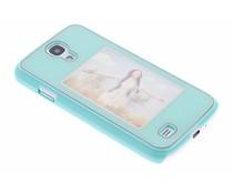 Turquoise fotolijst hardcase Samsung Galaxy S4