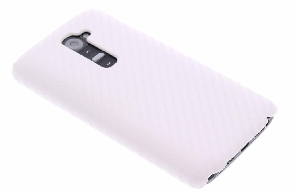 Wit carbon look hardcase hoesje voor de LG G2