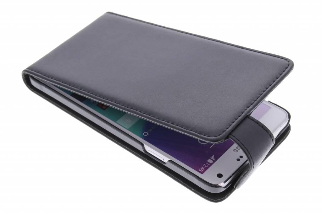 Zwarte stijlvolle flipcase voor de Samsung Galaxy Note 4