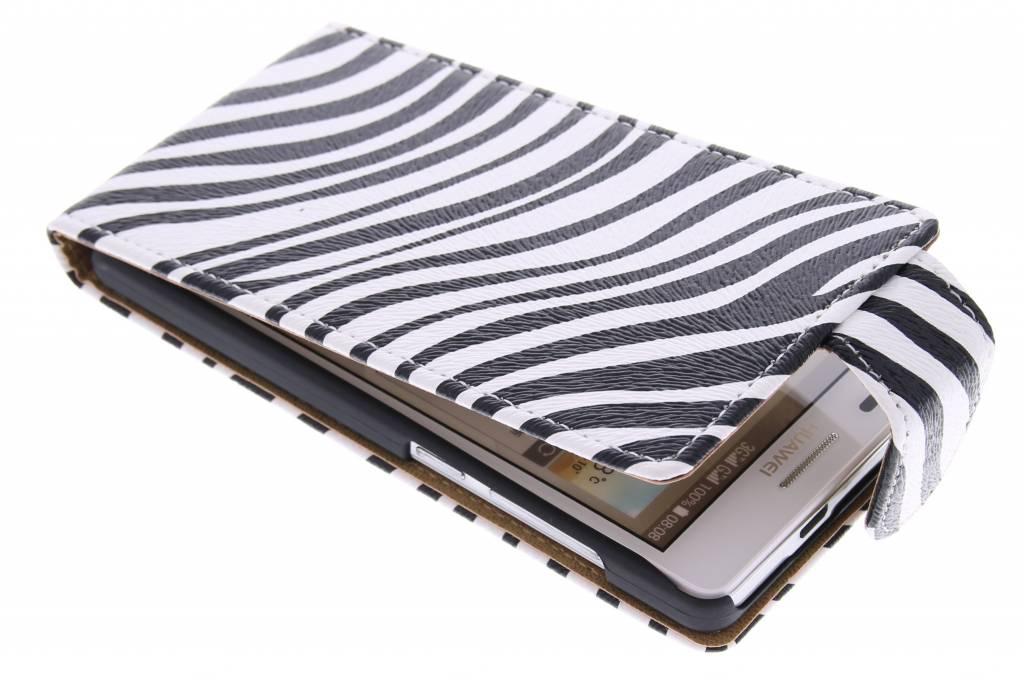 Zebra flipcase voor de Huawei Ascend G6