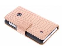 Roze slangen booktype hoes Nokia Lumia 530