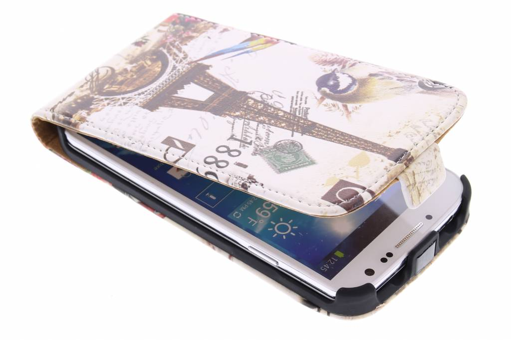 Eiffeltoren design flipcase voor de Samsung Galaxy S4