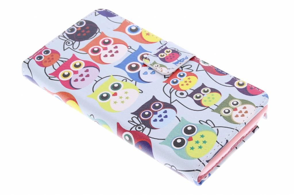Uiltjes design TPU booktype hoes voor de Samsung Galaxy Note 3
