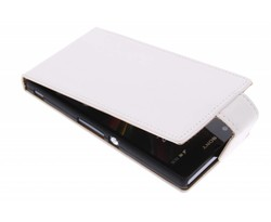Wit classic flipcase Sony Xperia Z