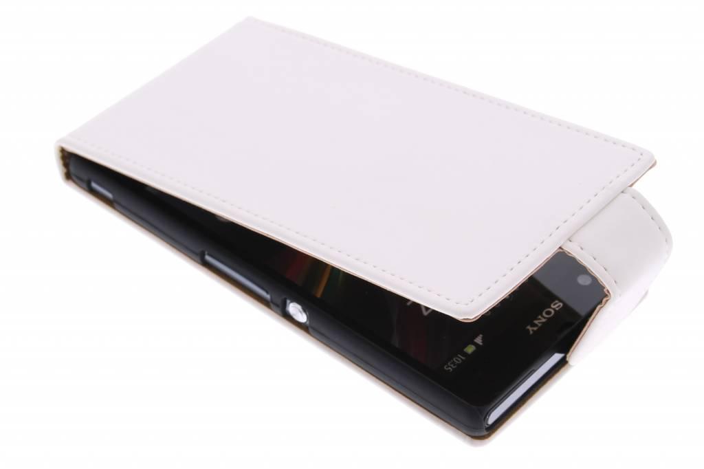 Witte classic flipcase voor de Sony Xperia Z