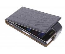 Zwart krokodil flipcase Sony Xperia Z1 Compact