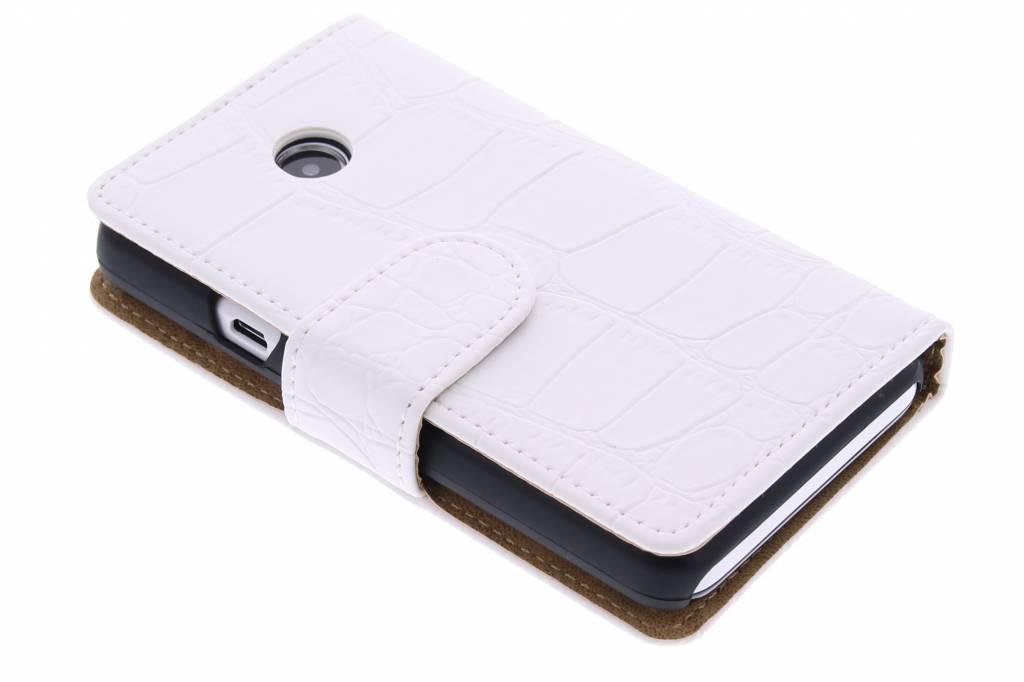 Wit krokodil booktype hoes voor de Huawei Ascend Y330