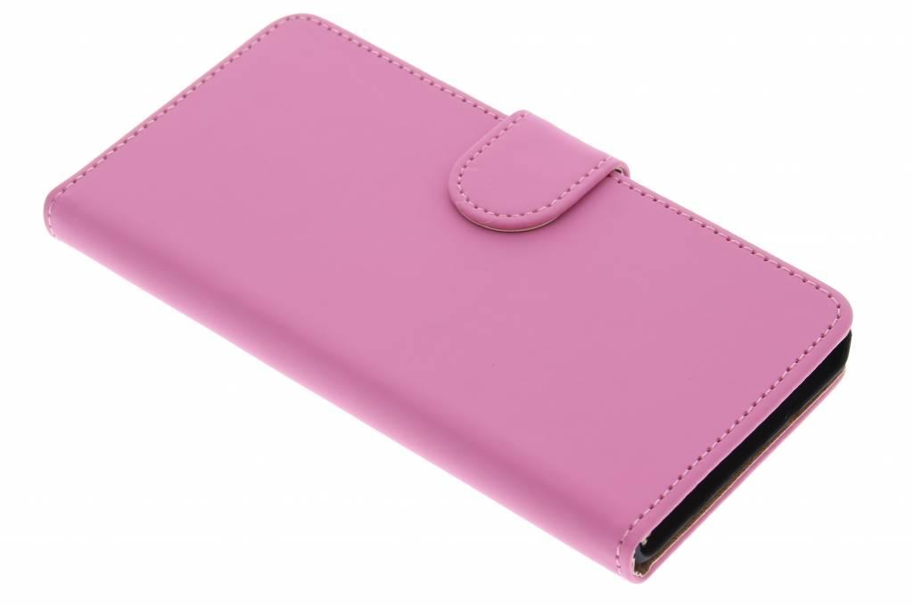 Roze effen booktype hoes voor de Samsung Galaxy A5