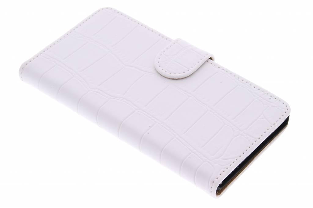 Witte krokodil booktype hoes voor de Samsung Galaxy A5