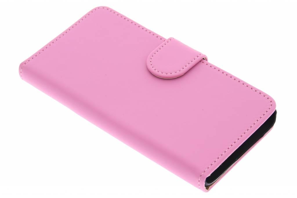 Roze effen booktype hoes voor de Samsung Galaxy A3