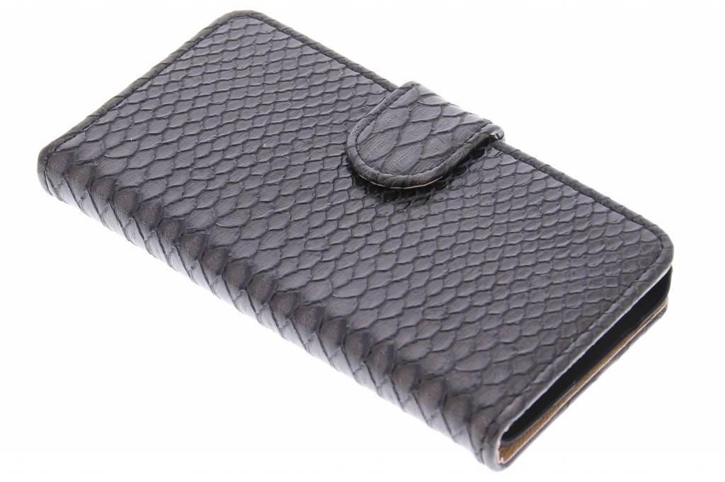 Zwarte slangen booktype hoes voor de Samsung Galaxy A3