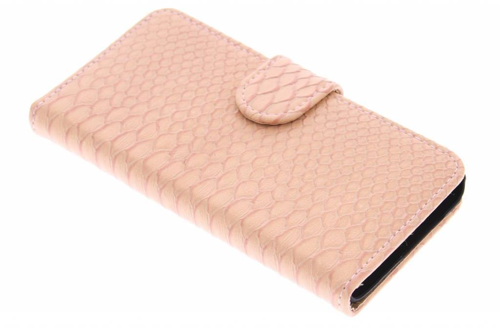 Roze slangen booktype hoes voor de Samsung Galaxy A3
