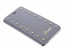 Guess Studded Folio Case iPhone 6(s) Plus - Zilver