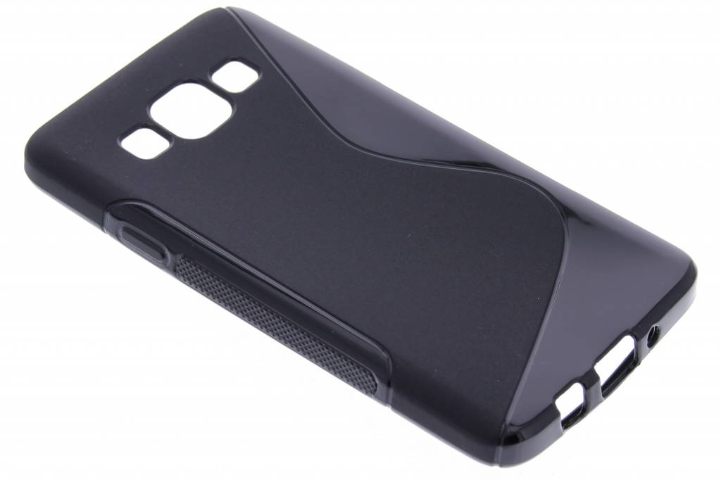 Zwart S-line TPU hoesje voor de Samsung Galaxy A3