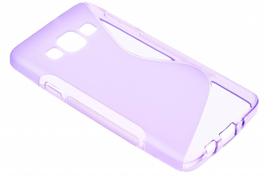 Paars S-line TPU hoesje voor de Samsung Galaxy A3
