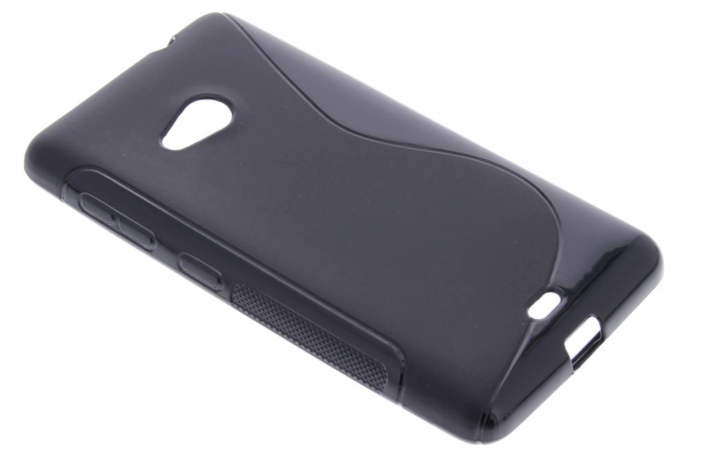 Zwart S-line TPU hoesje voor de Microsoft Lumia 535