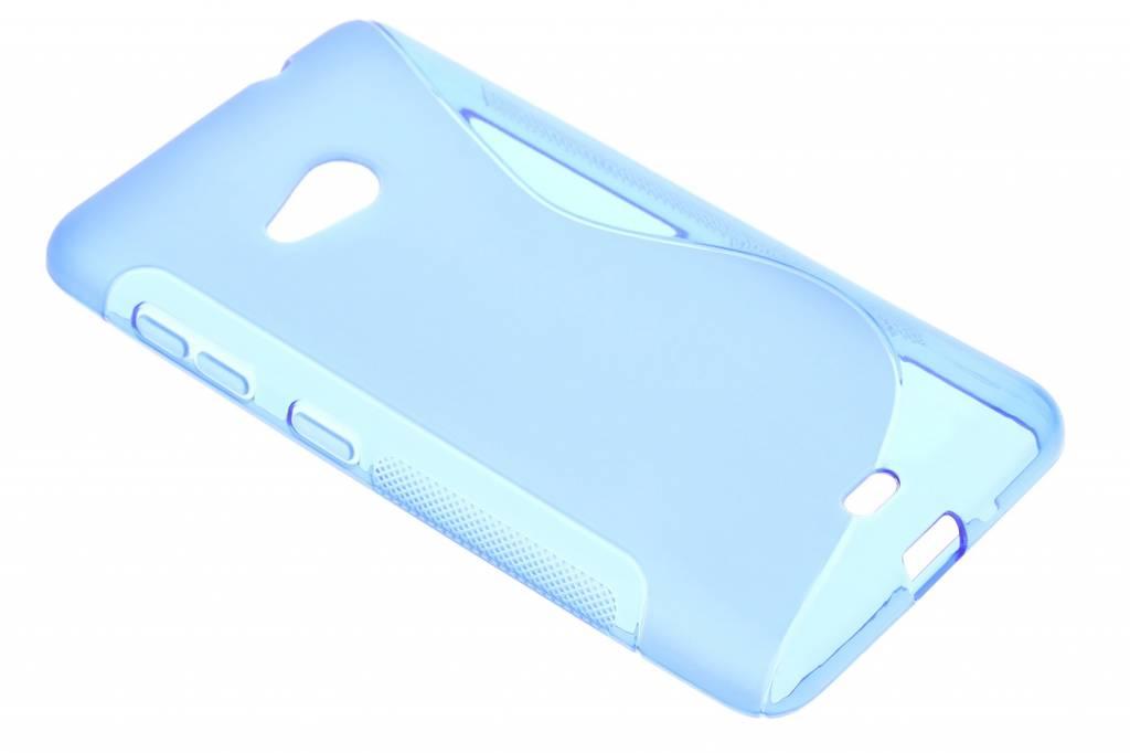 Blauw S-line TPU hoesje voor de Microsoft Lumia 535