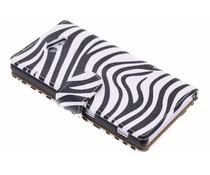 Zebra booktype hoes Sony Xperia M2 (Aqua)