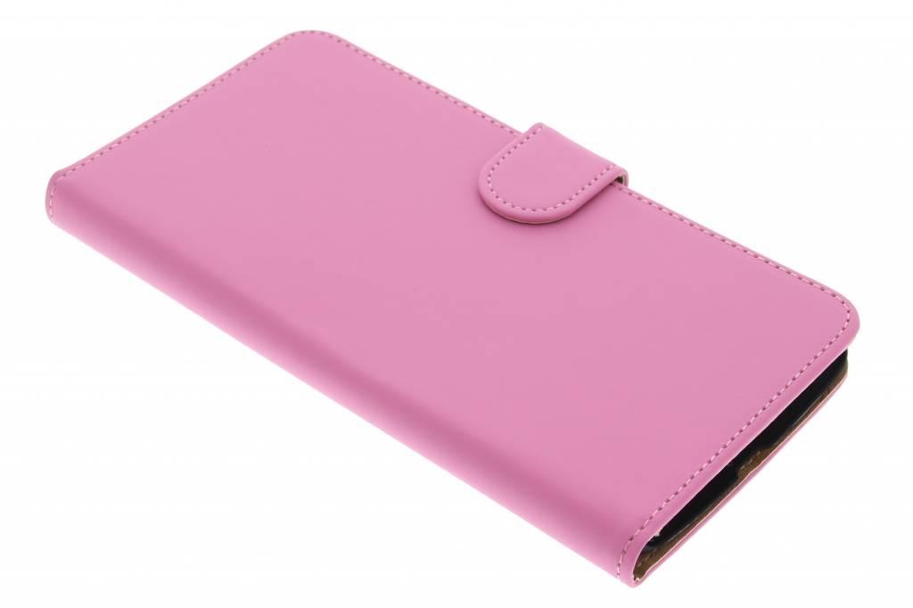 Roze effen booktype hoes voor de Motorola Nexus 6