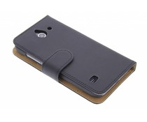 Zwart effen booktype hoes Huawei Ascend Y550