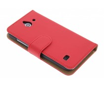 Rood effen booktype hoes Huawei Ascend Y550