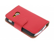 Rood effen booktype hoes Samsung Galaxy Mini 2
