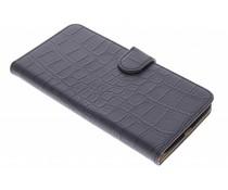 Zwart krokodil booktype hoes Motorola Nexus 6