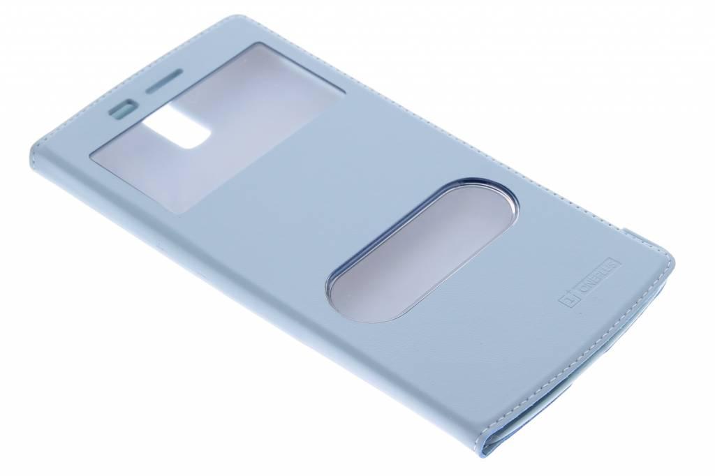 Turquoise luxe slim booktype hoes voor de OnePlus One