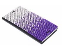 Glazen strass slim booktype hoes Sony Xperia Z3