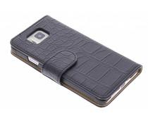 Zwart krokodil booktype hoes Samsung Galaxy Alpha