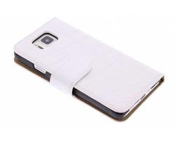 Wit krokodil booktype hoes Samsung Galaxy Alpha
