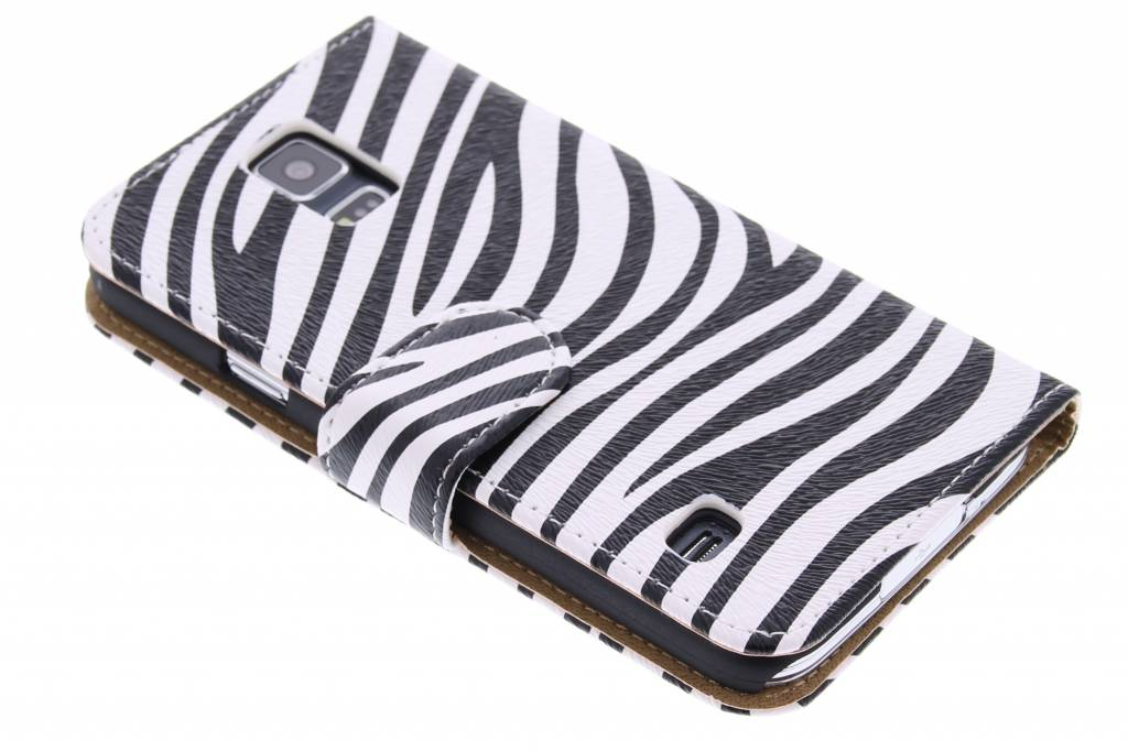 Zebra booktype hoes voor de Samsung Galaxy S5 (Plus) / Neo