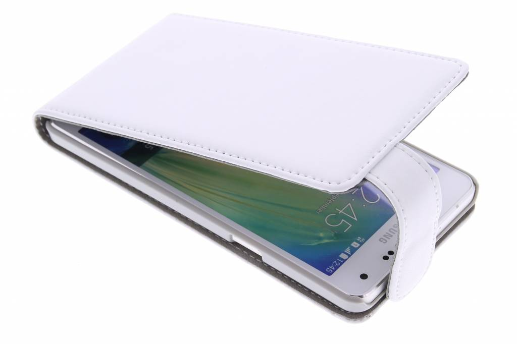 Witte stijlvolle flipcase voor de Samsung Galaxy Galaxy A5