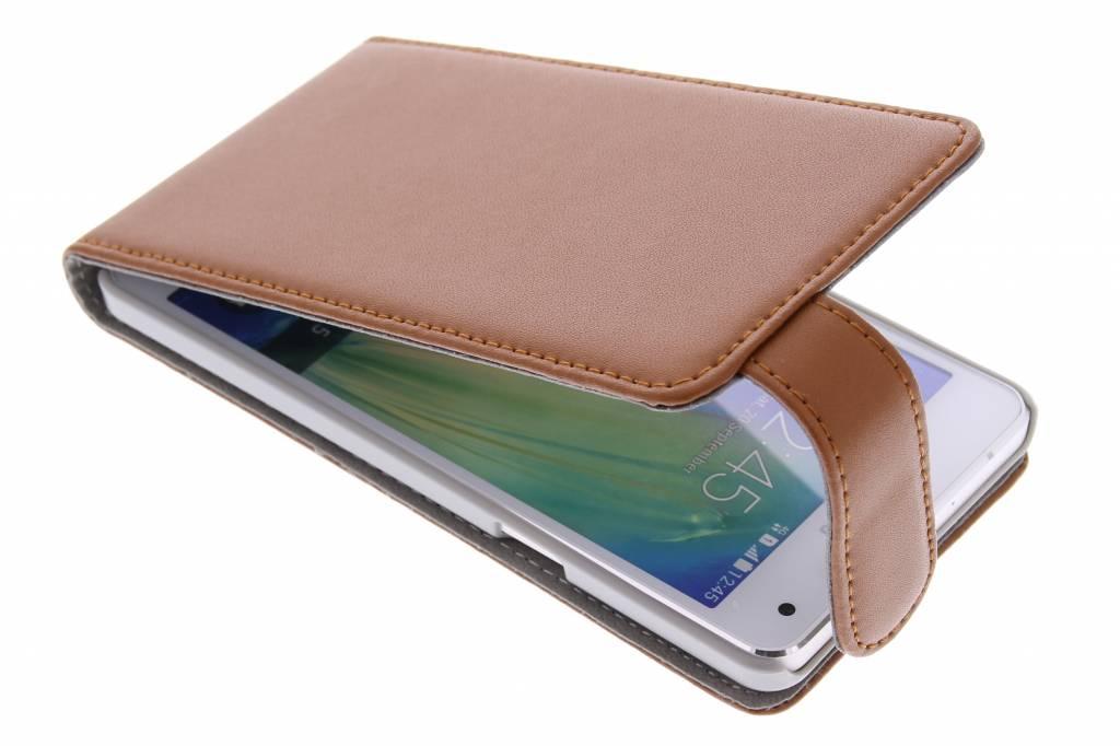 Bruine stijlvolle flipcase voor de Samsung Galaxy Galaxy A5